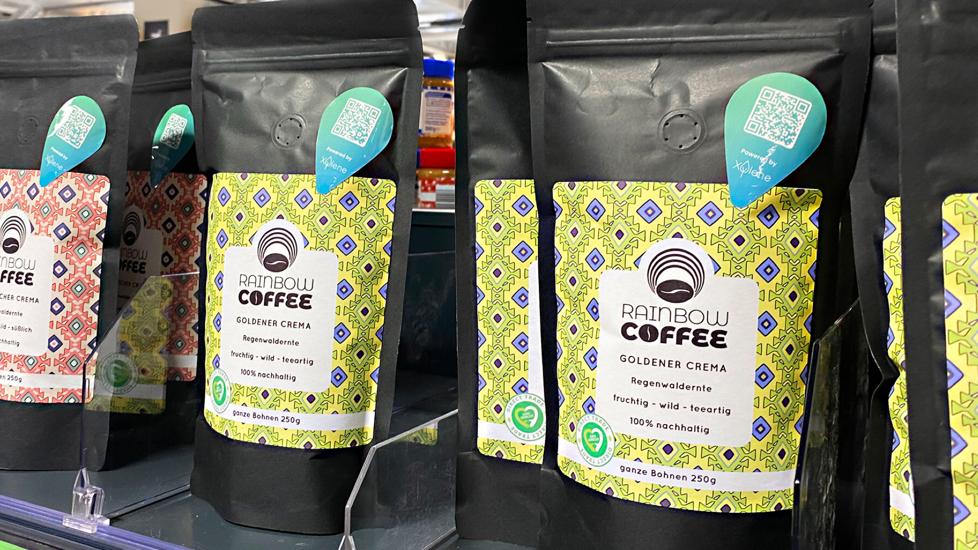 Rainbow Coffee im Einzelhandel