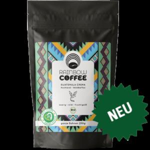 Rainbow Coffee Guatemala Crema Vorderseite