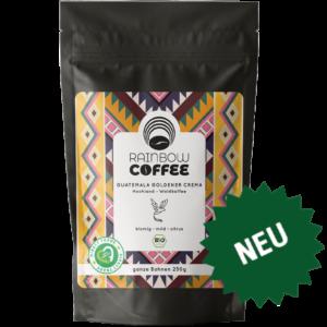 Rainbow Coffee Guatemala Goldener Crema Vorderseite