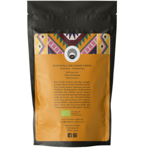 Rainbow Coffee Guatemala Goldener Crema Rückseite